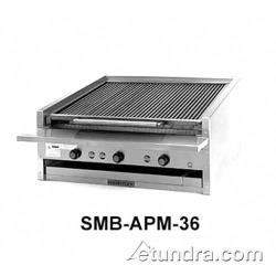 "MagiKitch'n - APM-SMB-648 - 48"" Low Profile Gas Charbroiler w/ Ceramic Briquettes image"