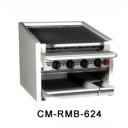 "MagiKitch'n - CM-SMB-648 - 48"" Countertop Gas Charboiler w/ Ceramic Briquettes image"