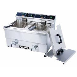 Adcraft - DF-12L/2 - Double Tank Countertop Fryer w/ Drain image