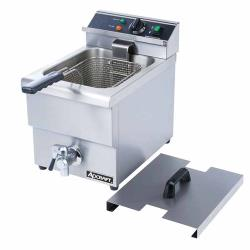 Adcraft - DF-12L - Single Tank Countertop Fryer w/ Drain image