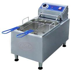 Globe - PF16E - 16 lbs Electric Countertop Fryer - 208-240V Motor image