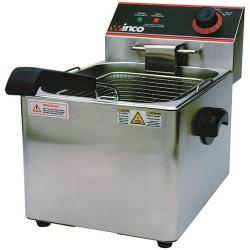 Winco - EFS-16 - Single Well 16 lb Electric Fryer image