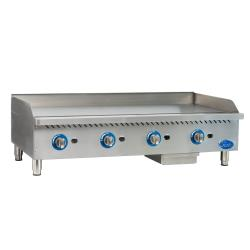 Globe - GG48G - 48 in Natural Gas Countertop Griddle image