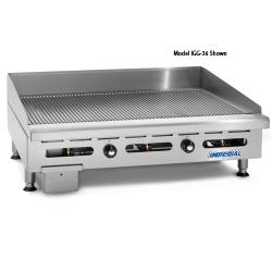 "Imperial - IGG-60-OB-2 - 60"" Grooved Gas Griddle w/ 2 Open Burners image"