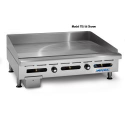 "Imperial - ITG-72-OB-2 - 72"" Thermostatically Controlled Gas Griddle w/ 2 Open Burners image"