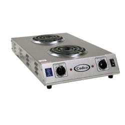 Cadco - CDR-1TFB - 120V/1650W Double Space Saver Hot Plate image
