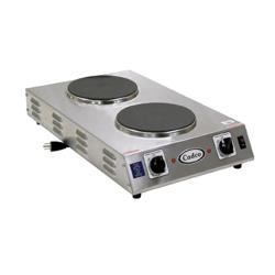 Cadco - CDR-2CFB - Cast Iron Double Space Saver Hot Plate - 120V/1,800W image