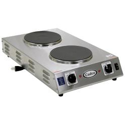Commercial hot plates tundra restaurant supply cadco cdr 2cfb cast iron double space saver hot plate 120v cheapraybanclubmaster Choice Image