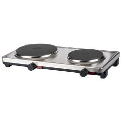 Cadco - DKR-S2 - 120V Stainless Steel Double Cast Iron Range image