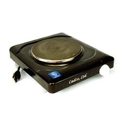Cadco - KR-1 - Black Portable 120V Single Cast Iron Range image
