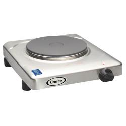 Cadco - KR-S2 - Stainless Steel 120V Portable Single Cast Iron Range image