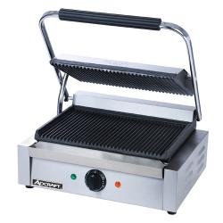 Adcraft - SG-811E - 13 in Grooved Sandwich Grill image