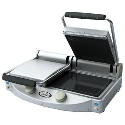 Cadco - CPG-20 - Double Panini Grill with Ribbed Top Plate image