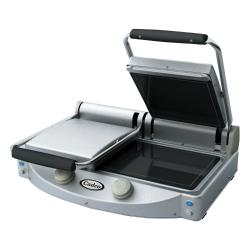 Cadco - CPG-20F - Double Panini Grill with Smooth Plates image