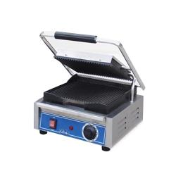 Globe - GPG10 - Single Bistro Panini Grill with Grooved Plates image