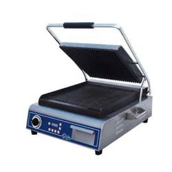 Globe - GPG14D - Single Panini Grill with Grooved Plates image