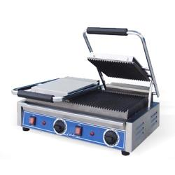 Globe - GPGDUE10 - Double Bistro Panini Grill with Grooved Plates image