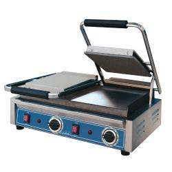 Globe - GSGDUE10 - Double Bistro Panini Grill with Smooth Plates image