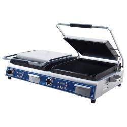 Globe - GSGDUE14D - Double Panini Grill with Smooth Plates image