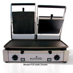 Sirman - PDL3000 - Sirman Double Panini Grill w/Ribbed Top/Smooth Bottom Plates image