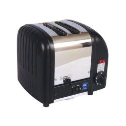 Cadco - CTB-2 - Stainless Steel And Black 2 Slot Heavy Duty Toaster image