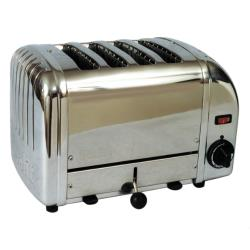 Cadco - CTS-4 - Mica 4 Slot Stainless Steel Heavy Duty Toaster image