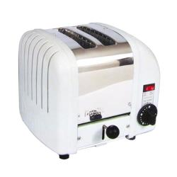 Cadco - CTW-2 - 2 Slot Heavy Duty Toaster Stainless Steel and White image