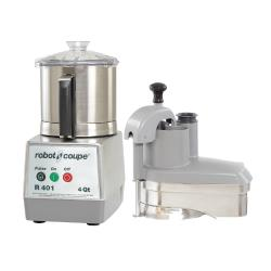 Robot Coupe - R401 - Commercial Food Processor w/ 4 Qt Bowl & Continous Feed image