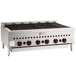 Wolf - SCB36 - 36 in Countertop Charbroiler w/ 6 Burners image