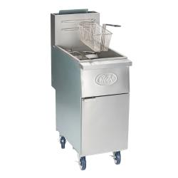 Globe - GFF35G - 35 lb Natural Gas Fryer image