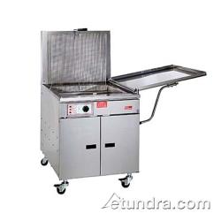 Pitco - 34FF - 210 Lb Gas Chicken/Fish Fryer w/ Submerger & Drainboard - Solid State Thermostat image