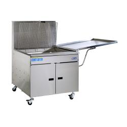 Pitco - 34FF - 210 Lb Gas Chicken/Fish Fryer w/ Submerger & Drainboard image