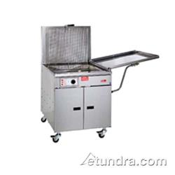 Pitco - 34FFM - 210 Lb Gas Chicken/Fish Fryer w/ Submerger & Drainboard - Mechanical Thermostat image