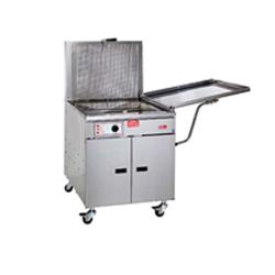 Pitco - 34FFM - 210 Lb Gas Chicken/Fish Fryer w/ Submerger & Drainboard image
