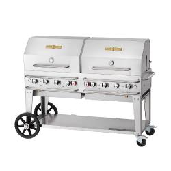 Crown Verity - CV-RCB-60RDP-SI-BULK - 60 in Pro Series LP Outdoor Grill W/ Roll Domes image