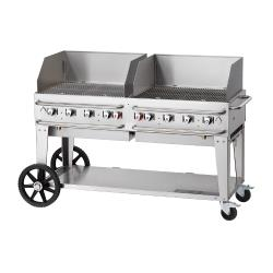 Crown Verity - CV-RCB-60WGP-SI-BULK -  60 in Pro Series LP Outdoor Grill W/ Windguards image