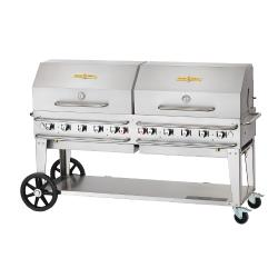 Crown Verity - CV-RCB-72RDP-SI-BULK - 72 in Pro Series LP Outdoor Grill W/ Roll Domes image