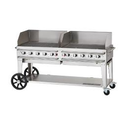 Crown Verity - CV-RCB-72WGP-SI-BULK - 72 in Pro Series LP Outdoor Grill W/ Windguards image