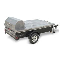 Crown Verity - TG-4 - 48 in Towable Charbroiler With 2 Compartments & Sink image