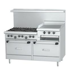 Garland - U60-6R24RR  - 60 in U Series 6 Burner Gas Range W/24 in Raised Griddle image