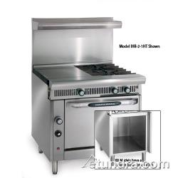"Imperial - IHR-2-1HT-XB - Diamond Series 36"" Range w/ 2 Burners, 18"" Hot Top & Cabinet image"