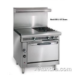 "Imperial - IHR-3HT-3-C - Diamond Series 36"" Range w/ 3 Burners, 3 Hot Tops & Convection Oven image"