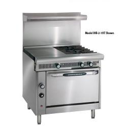Imperial - IHR-4-1HT-C Diamond 36 in Range w/4 Burners, Hot Top, Convection Oven image