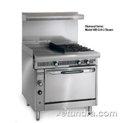 "Imperial - IHR-G18-2-C - Diamond Series Range  w/ 2 Burners, 18"" Griddle, Hot Top & Convection Oven image"