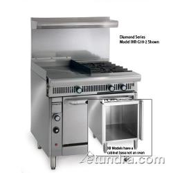 "Imperial - IHR-G24-2-XB - Diamond Series Range w/ 2 Burners, 24"" Griddle & Cabinet image"