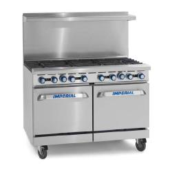 Imperial - IR-4-G24 - 48 in Range With 4 Burners, Griddle and 2 Standard Ovens image