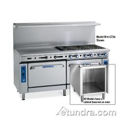 "Imperial - IR-4-G24-C-XB - 48"" Range w/ 4 Burners, 24"" Griddle, Convection Oven & Cabinet image"