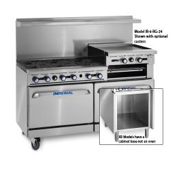 "Imperial - IR-4-RG24-C-XB - 48"" Range w/ 24"" Raised Griddle, Convection Oven & Cabinet image"