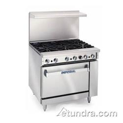"Imperial - IR-6-C - 36"" Range w/ 6 Burners & Convection Oven image"