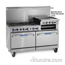 Imperial - IR-6-RG24 - 60 in Range w/6 Burners, Raised Griddle, 2 Standard Ovens image